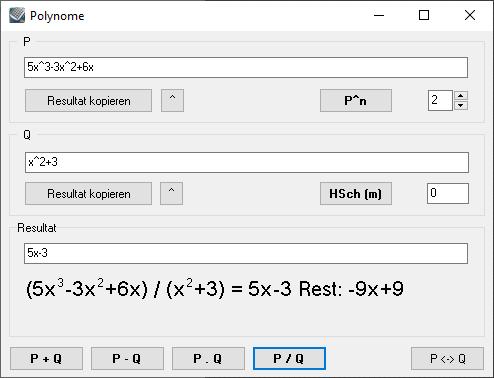 Kalkules Polynome